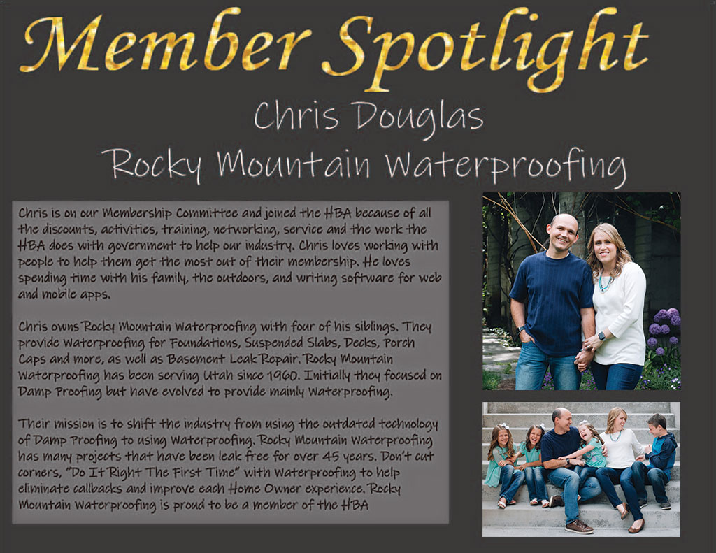 Membership Spotlight - Christopher Douglas - Rocky Mountain Waterproofing